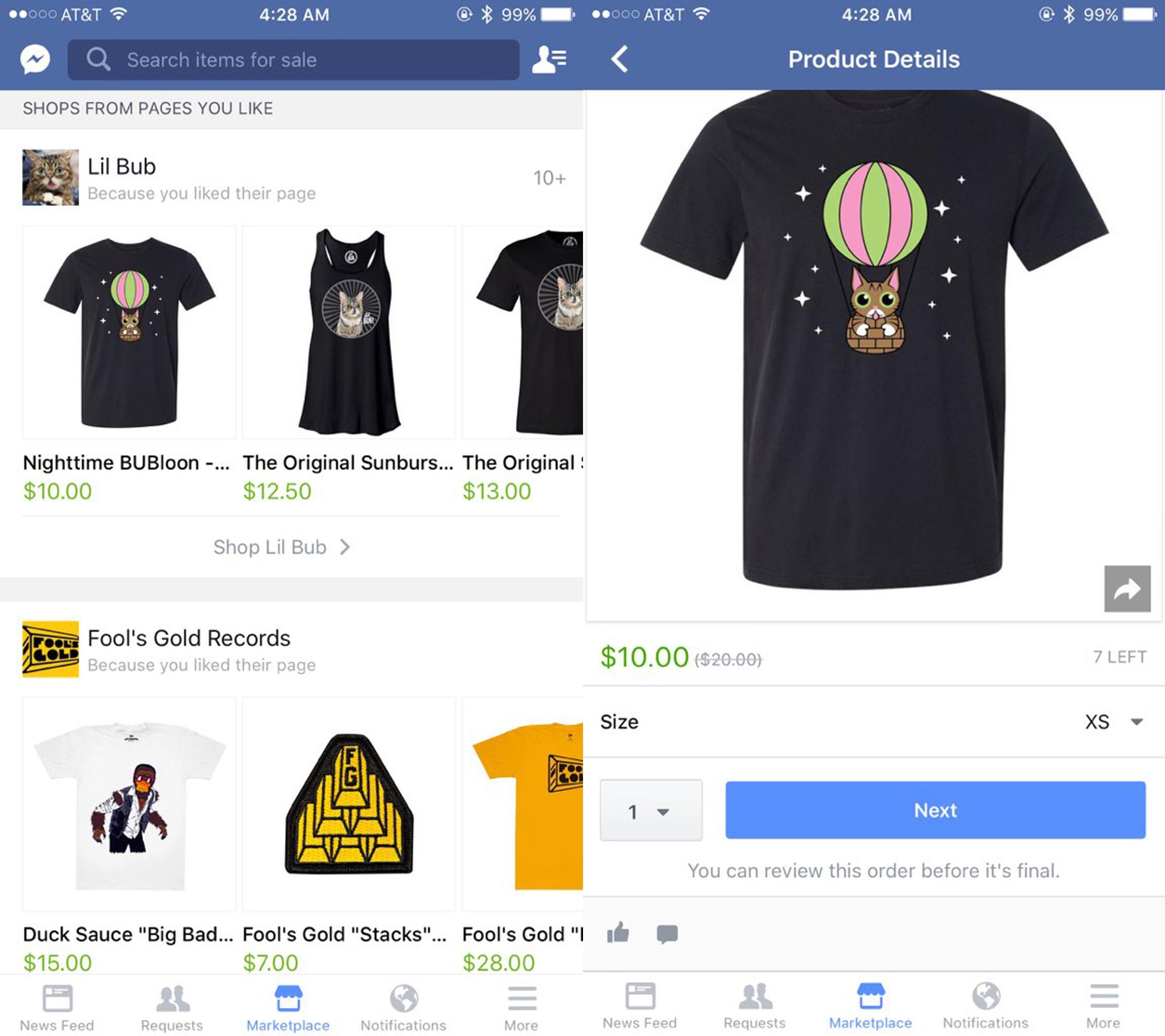 Marketplace, le nouveau service de commerce de Facebook