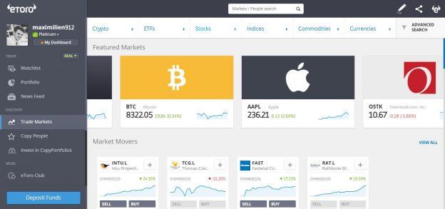 plateforme de trading eToro